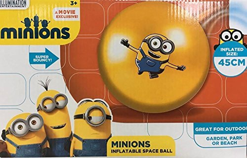 Despicable Me Minion Super Bouncy Inflatable Space Ball 45cm -
