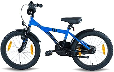 prometheus bicycles prometheus kinderfahrrad 18 zoll jungen und m dchen in blau schwarz mit. Black Bedroom Furniture Sets. Home Design Ideas