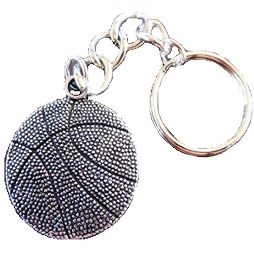 3D Pewter Basketball Keychain