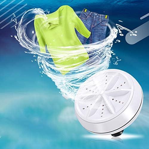 YARUI Mini Washing Machine Personal Rotating Turbine Washer Portable Ultrasonic Turbine Sterilization Removes Dirt Washer USB Cable for Travel Home Business Trip