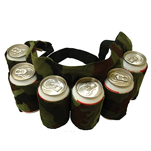 NPLE--Portable 6 Pack Beer Soda Can Holster Drink Bag Party Holder (Lose Game T-shirt)