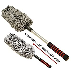 microfiber car duster by drought buster clean car quickly w o water streak scratch. Black Bedroom Furniture Sets. Home Design Ideas