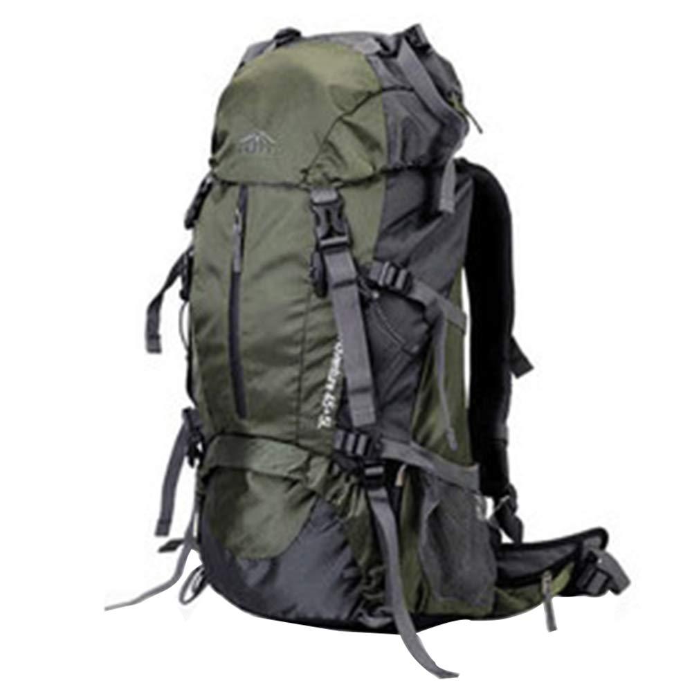 登山バックパック、メンズ&レディースアウトドアバックパック50Lトラベルバックパック、60L大容量防水登山アウトドアキャンプバックパック B07G9JJJRB Green Large