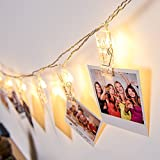 Photo Clips String Lights,Reabeam,Twinkle Light,40Clip,Wedding Anniversary Party ,Home,Bar, Coffee Shop,Christmas Halloween Decor Lights,Battery Powered for Hanging Pictures,Notes,Memos,Artwork