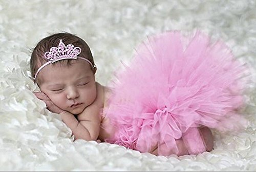 Costumes Props (HugeStore Baby Newborn Infant Photo Photography Prop Costume Outfits Tutu Dress Skirt Suit Headband Set)