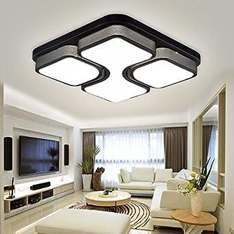HG® 48W LED Deckenleuchte Wohnzimmer Design Weiß Schlafzimmer ...