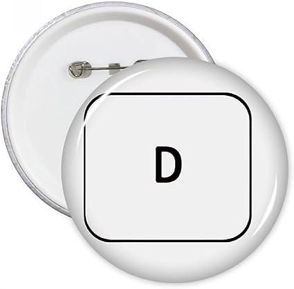DIYthinker Teclado de símbolos D pernos redondos insignia del ...