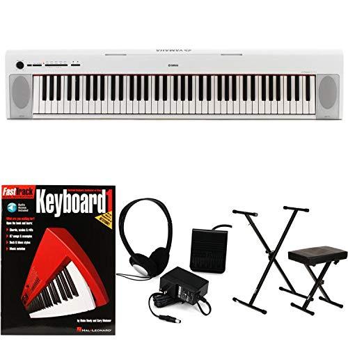 Yamaha Piaggero NP-32 Essential Keyboard Bundle - White by Generic