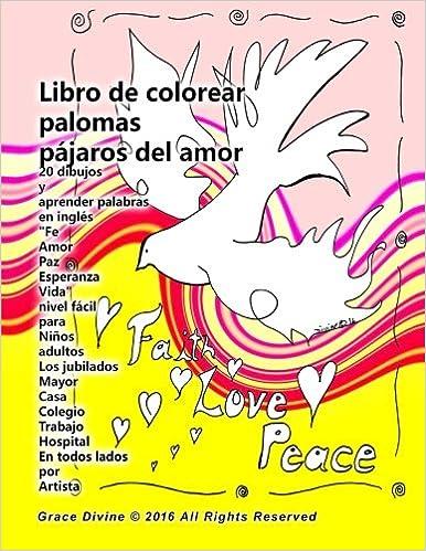 Libro Da Colorare Colombe Amore Uccelli 20 Disegni E Imparare Le