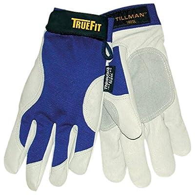 John Tillman 1485 Medium Blue/Gray True Fit Top Grain Pigskin/Nylon Thinsulate Lined Cold Weather Gloves, English, 30.68 fl. oz, Plastic, 1 x 7.5 x 4.5