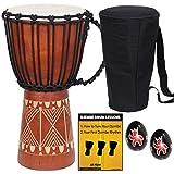 X8 Drums Djembe African Hand Drum inch X8-DJ-GRV-BKP