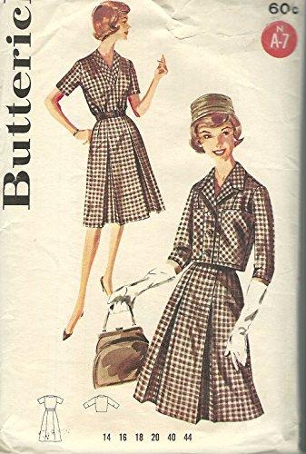 50s dress pattern size 20 - 8