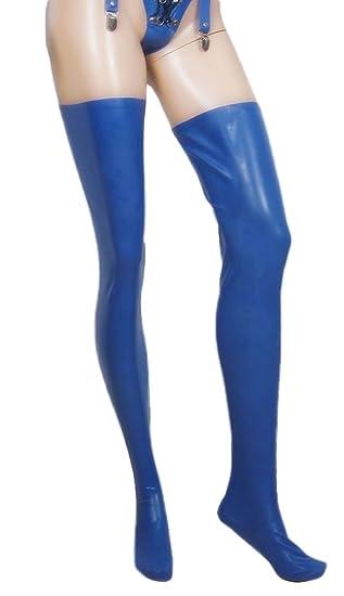 77c942c0874f12 Amazon.com: AvaCostume Women's Thigh High Latex Rubber Tights Stockings:  Clothing