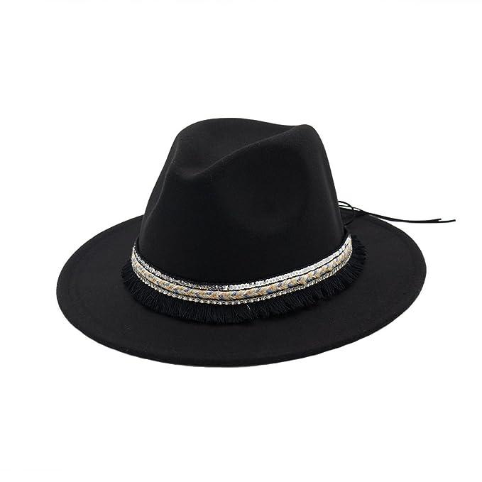 Sombreros Fedora Jazz Trilby Mujer Fieltro Clásico Sombrero de Otoño  Invierno f9598a4f4c3