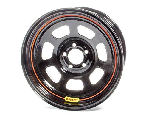 BASSETT 57SN4 Wheel 15x7 5x100mm D- Hole 4in BS Black by Bassett (Image #1)