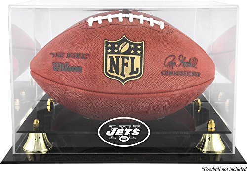 Mounted Memories New York Jets Team Logo Football Display Case