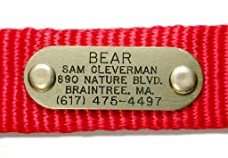 Quiet Collar Brass Pet ID Tag Custom Engraved (Message Seller with Engraving Information)