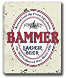 "BAMMER Lager Beer Stretched Canvas Sign 24"" x 30"""