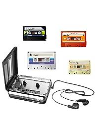 2019   Conversor de cassette a mp3, reproductor de cassette USB a convertidor de mp3 para PC, portátil, Mac con auriculares