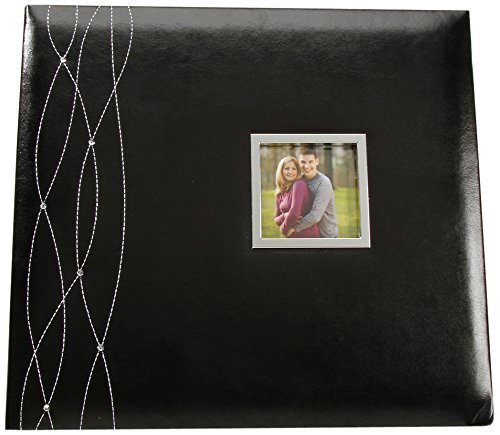 Darice Scrapbook - Black with Rhinestones and Window - 12 x 12 inches