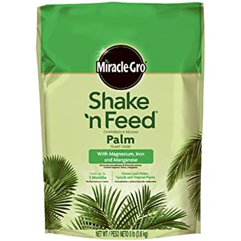 Miracle-Gro Shake 'n Feed Continuous Release Palm Plant Food, 8-Pound (Slow Release Plant Fertilizer)