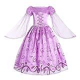 ReliBeauty Little Girls Rapunzel Costume Mesh Sleeve Princess Fancy Dress