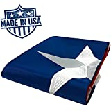 100% US Made Texas Flag 3x5 ft - Embroidered Star - Superior Quality, Tough, Long Lasting Nylon Built for Outdoor Use, UV Protected and Sewn Using Quadruple Lock Stitching on Fly End