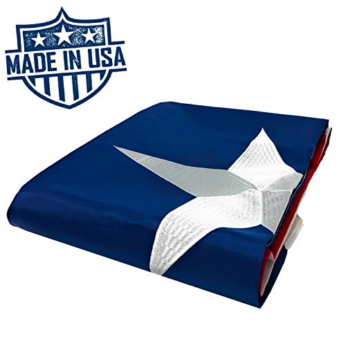 NatFlag 100% US Made Texas Flag 4x6 ft - Embroidered Star - Superior Quality, Tough, Long Lasting Nylon Built for Outdoor Use, UV Protected and Sewn Using Quadruple Lock Stitching on Fly End