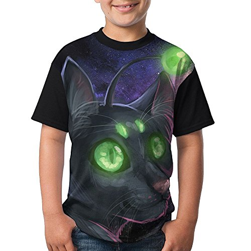 Cat Evil Kids Breathable Shirts 3D Printed Tee Crew Top X-Large by FANGHUABATHRHSQ