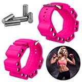 Wrist Weights, Adjustable Fitness Wearable Weighted Wristbands to Increase Arm & Leg Explosiveness and Endurance Training for Dance Barre Pilates Bounce Yoga Cardio Walking and Home Exercise (Pink)