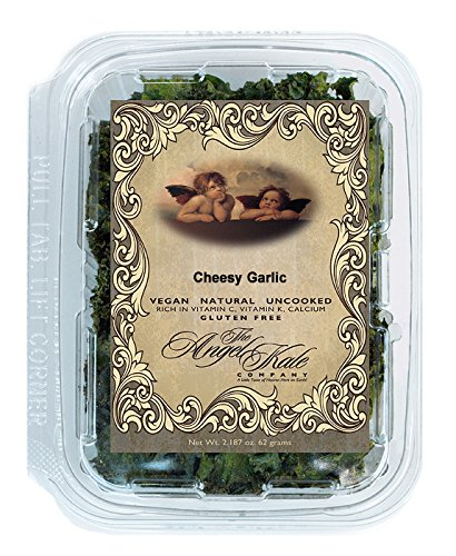CHEEZY GARLIC Angel Kale Chips World's Largest Selection of Flavors 41 Vegan, Gluten Free, Natural, Healthy, Superfood