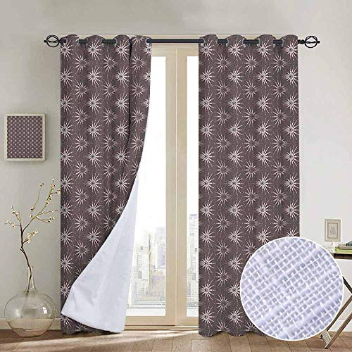 NUOMANAN Bedroom Curtain Geometric,Retro Pattern with Optical Illusion Design with Circles Geometric Illustration, Multicolor,Insulating Room Darkening Blackout Drapes - 96 Wheel Optical