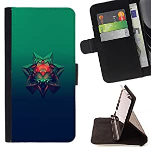 KingStore / Leather Etui en cuir / HTC Desire 820 / Estrella de 6 puntos