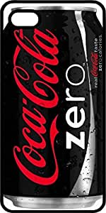 Black Coca Cola Zero Soda Can Tinted Rubber Case for Apple iPhone 5 or iPhone 5s
