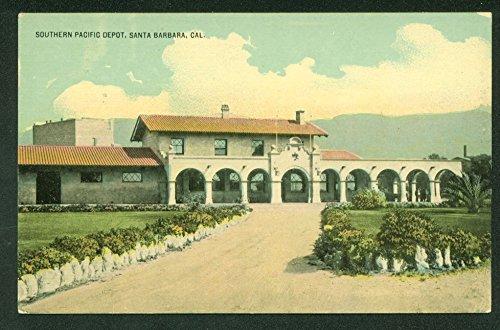 Southern Pacific Depot SANTA BARBARA CA Train Station Railroad Vintage - Barbara Street State Santa Stores
