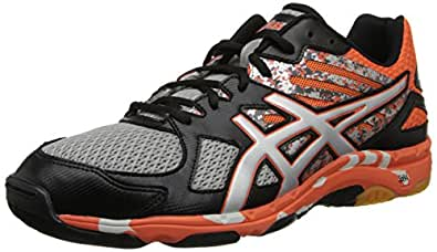 Asics Men's Gel-Flashpoint 2 Volleyball Shoe,Black/Silver/Flame,8 M US