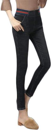 [ンーセンー] レディース デニム ジーンズ ロングパンツ ゆったり ワイドパンツ デニム ポケット付き カジュアル 体型カバー 大きいサイズ 裏起毛 厚手 防寒 暖かい