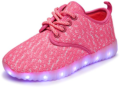 Price comparison product image MagicStep Kids 7 Colors LED Light Up Shoes Fashion Sneakers(YZ-LED-A01 Pink 33EU)