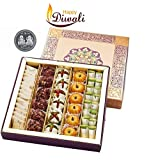 GHASITARAM'S Punjabi Halwai Gift Assorted Dryfruit Mithai Box with Rakhi, Tikka (400gms)