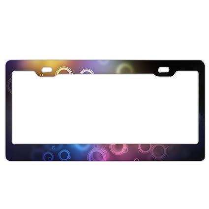 Amazon.com: MALBX Abstract Artistic Car License Plates Frames ...