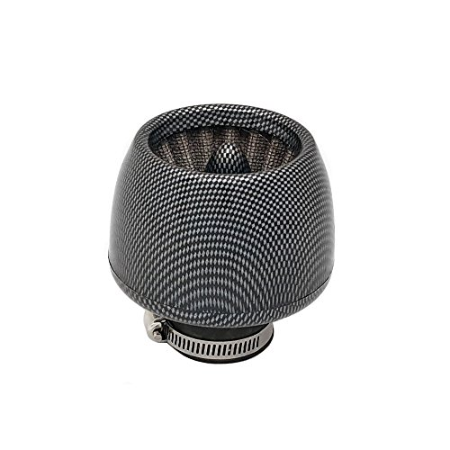 "38mm Universal fit ""Turbine"" Air Filter - Motorcycle Scooter Pocket Bike ATVs - Carbon Fiber (Model 10408-06)"
