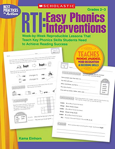 RTI: Easy Phonics Interventions: Week-by-Week Reproducible Lessons That Teach Key Phonics Skills Students Need to Achieve Reading Success]()
