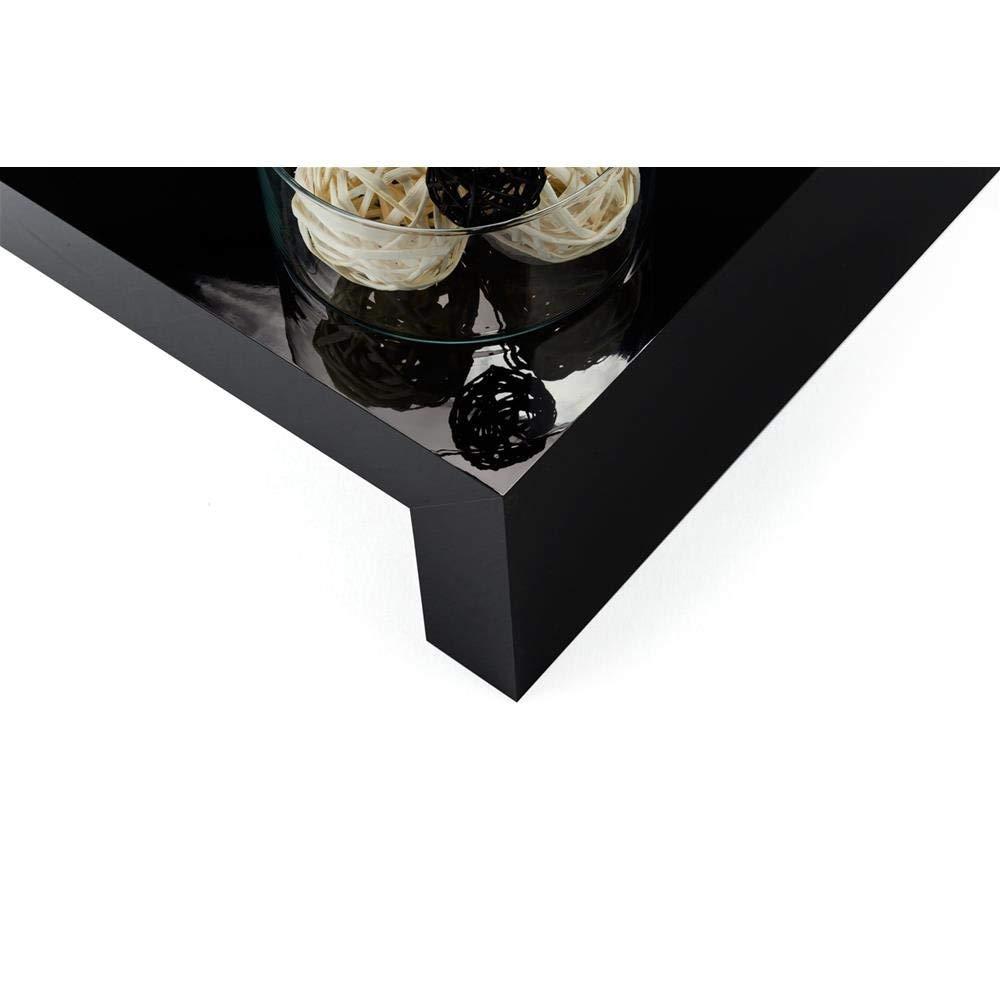 Mobili Fiver First H21 Tavolino da Salotto 90x54x21 cm Legno Nero Lucido