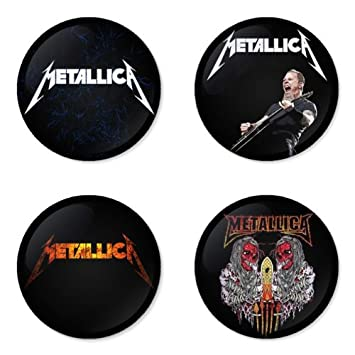 Amazon.com: Metallica Round Badges 1.75
