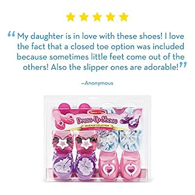 Melissa & Doug Role Play Collection, Step In Style! (Dress-Up Shoes, Pretend Play, Set of 4 Pairs, Great Gift for Girls and Boys - Best for 3, 4, and 5 Year Olds): Melissa & Doug, Melissa & Doug: Toys & Games