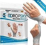 DropSky [4pcs] Gel Wrist Thumb Support Braces Soft Waterproof Breathable