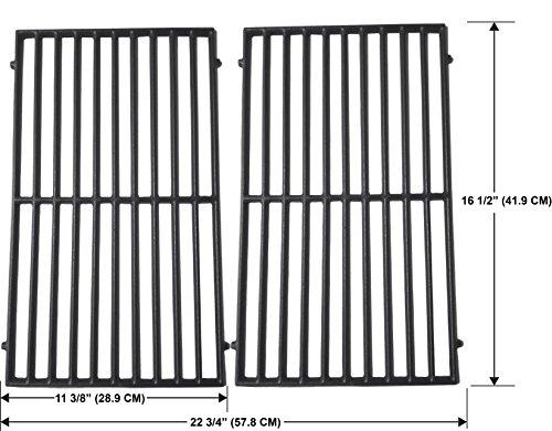 Matte Enamel Cast Iron Cooking Grid For Kenmore 141.15227, 141.15227, ProChef 34402, 34602, Vermont Castings CF9030, Ellipse 2000LP, Hamilton Beach 84131, Grand Chef GC1000, Set of (Enamel Grid)