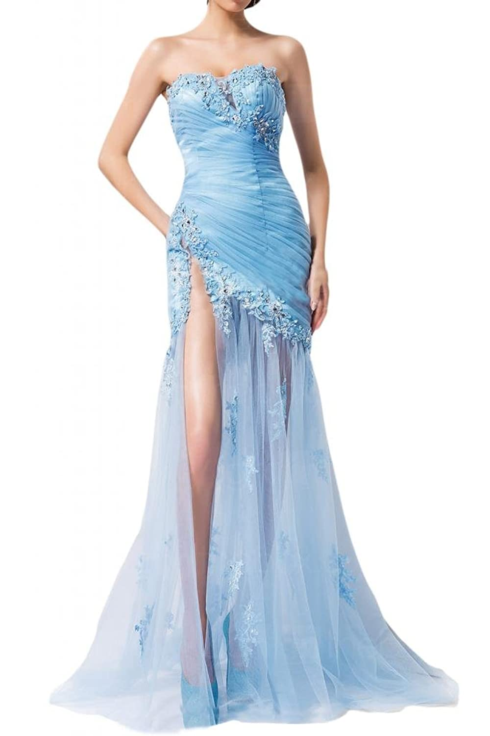 Sunvary 2014 Romantic Evening Prom Dresses Strapless Sweetheart Sheath Short Rulle Applique