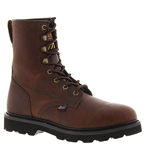 "Justin Men's Premium 8"" Lace-Up Work Boot Tan 12 D(M) US"