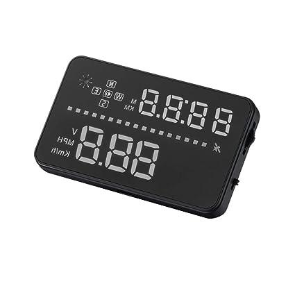 Pantalla HUD GPS Head Up Para Automóvil, Proyector De Velocidad ...